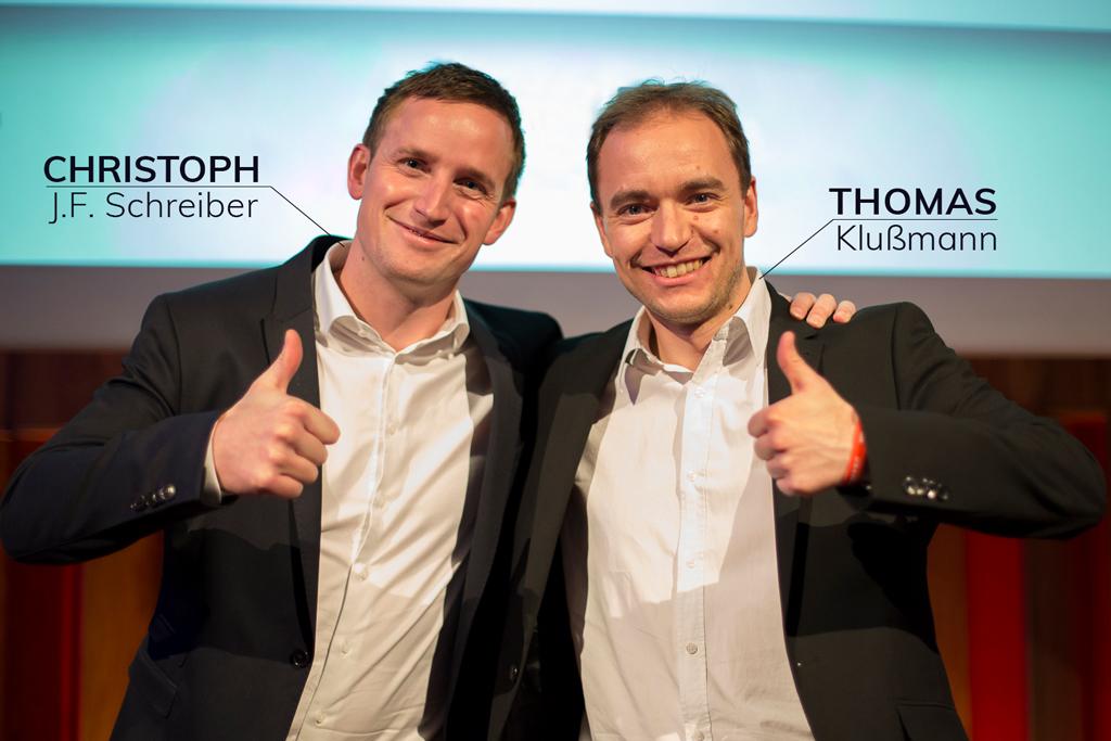 Geschäftsführer Christoph Schreiber & Thomas Klußmann auf dem Gipfeltreffen 2017