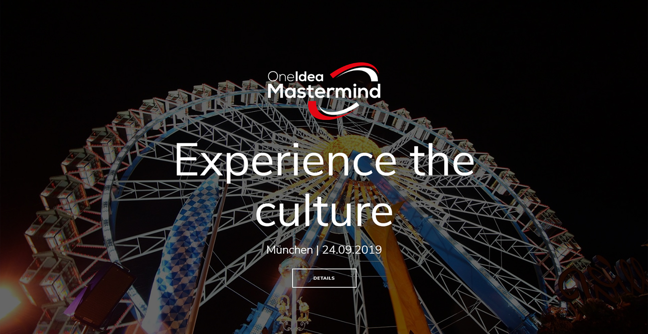 One Idea Mastermind – Experience the Culture Edition
